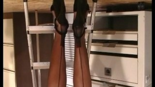 vintage office tickling romp