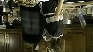 French maid nailed in the kitchen