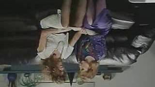 Retro Office Lesbians Beaver and Donk Licking Strap-On