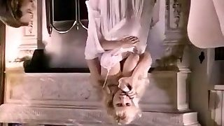 Full of lust busty vintage blondie gets brutally fucked doggy style