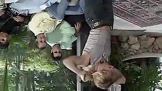 Sandy, Rebecca Lord, Rocco Siffredi in classic porn clamp