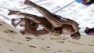Beach Sex Scene from Retro Video  hardcore