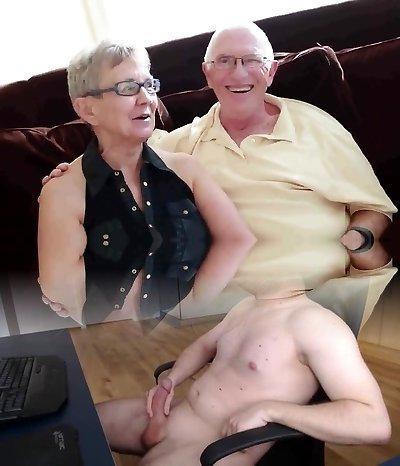 Elderly husband fucked with college girl guy