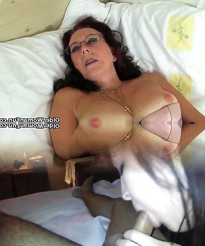English grannie Elle is your crazy nurse tonight