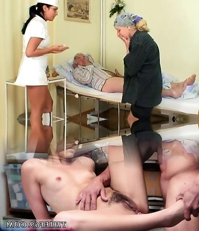 Nasty Hot Nurse Helps Elderly Patient To Get Laid