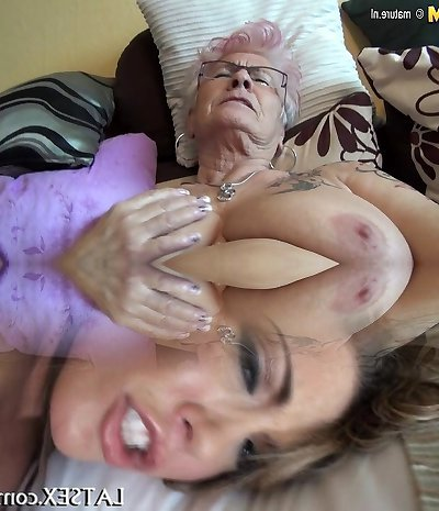 Very older German granny and her saggy baps