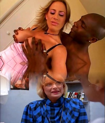 Young mommy deepthroats a black cock