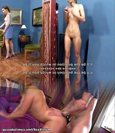 Bony Mature Angie spanked