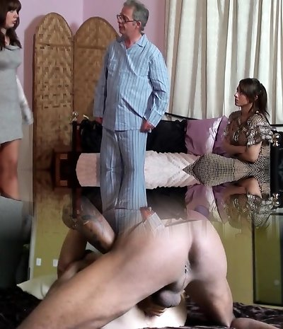 Mom spanks Daughter-in-law and Father