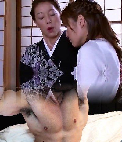Crazy Chinese slut Karen Kisaragi, Mari Aoi in Fabulous Cuni JAV vid