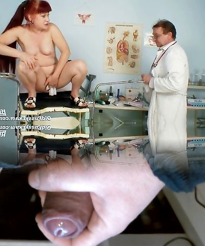 Mature Olga has her redhead hairy pussy obgyn speculum check-up