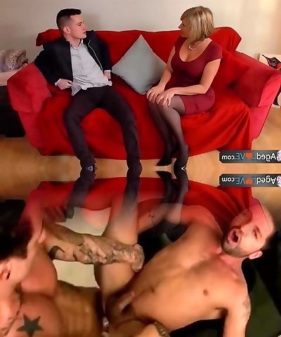 AgedLove Nice blonde grandmother is screwed by horny man