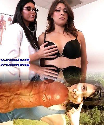 Mature girly-girl nurse strap dildo fucks teen patient