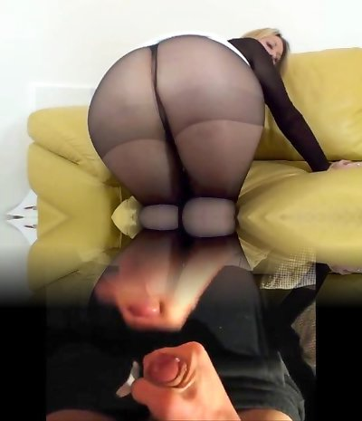 Jerf off to my pantyhosed rump 2