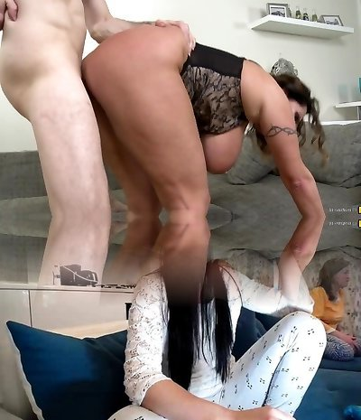 Mature big-titted wives and moms nail young sons