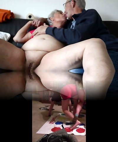 Phat old granny kissing