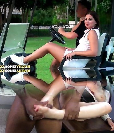 Arousing smallish latina gets anughty at golf match