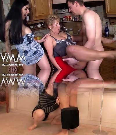 MMV FILMS Busty Mature Amateur 3some