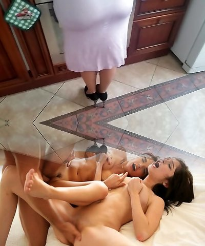 Russian mature mommy and boy