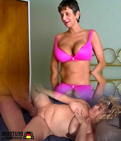 Age Gap Sex Rendezvous - Big-chested Granny Fucked