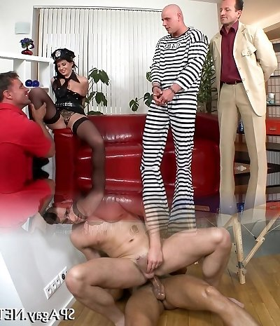 Horny superstar in exotic anal, gangbang hardcore video