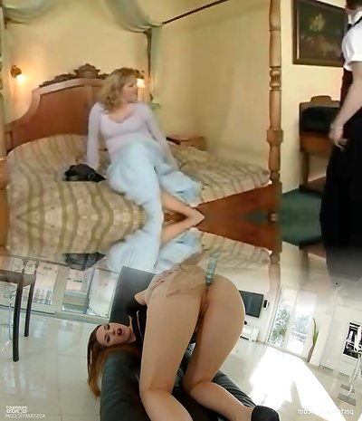 Horny MILF smashed by waiter