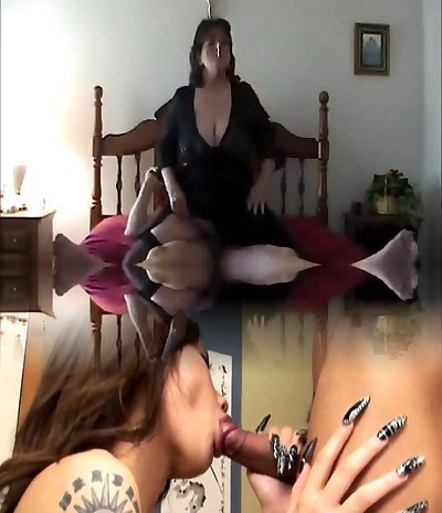 Hot Mature Grubby-talking BBW Smoking and Riding
