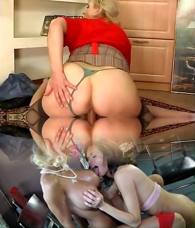 Russian huge-titted maid fucked by youthful guy at home