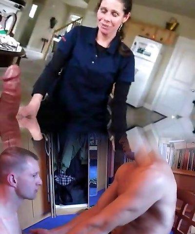 Maid Providing a Little Help