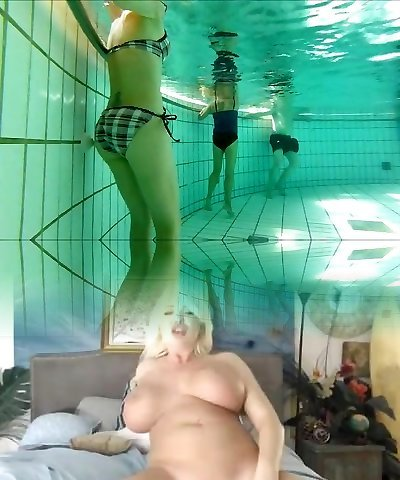 french 45 yo great assets playing with jets at pool