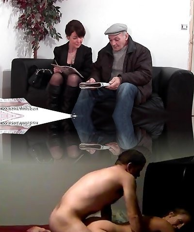 French mature rock-hard sodomized and Dp in 3way with Papy Voyeur