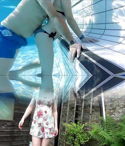 french youthfull and portuguese mature couples underwater pool