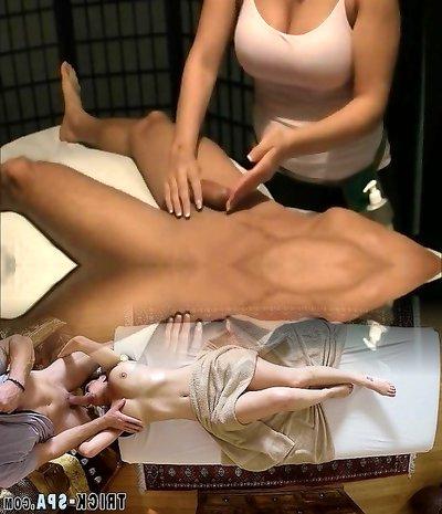 Yann se fait masser la nibble