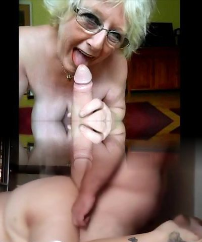 grandmother nice bj and mistress gives fat cock hj