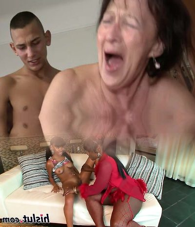 Granny Loves Young Guy's Scrotum and Ass