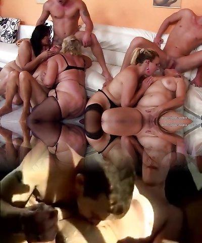 Group of mature women enjoy super-steamy orgy