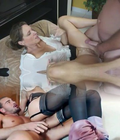 Busty Mommy Shows Him Her Big Tits And Tight Cooter