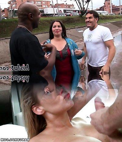 Round mature slut pleasures a BBC