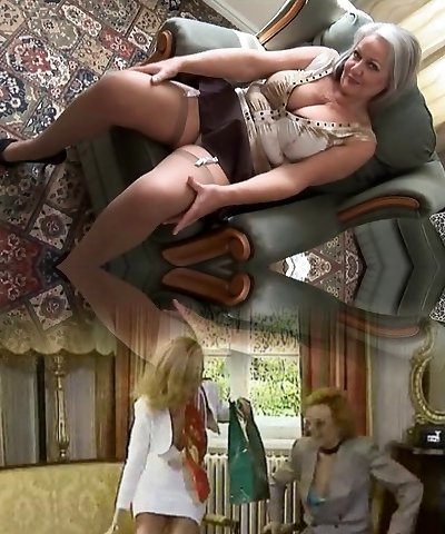 mother I'd like to fuck Handsome breasty grandma in nylons unwrapping