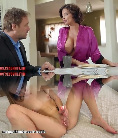 Brunette mom pov with cumshot