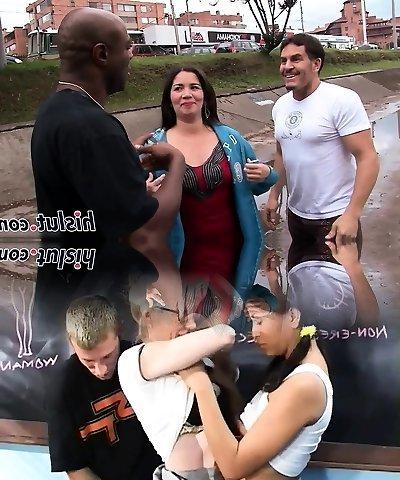 Chubby mature slut pleasures a Big Black Cock