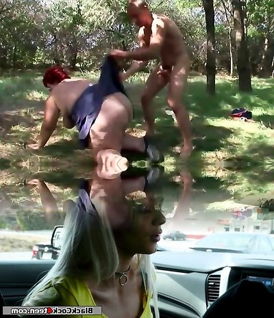 Plumper Mature Redhead Likes To Fuck Outdoor