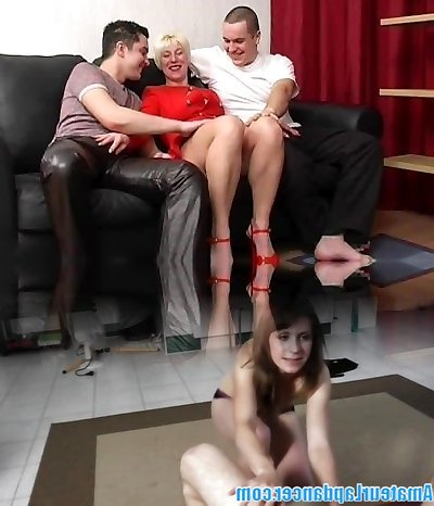 Russian blonde mature bang-out