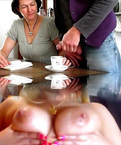Crazy Amateur clip with Brunette, Grannies gigs