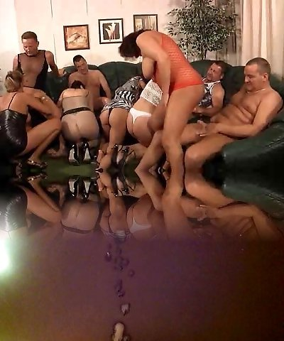 GRANNY PRIVATE PARTY  Cougar ORGY