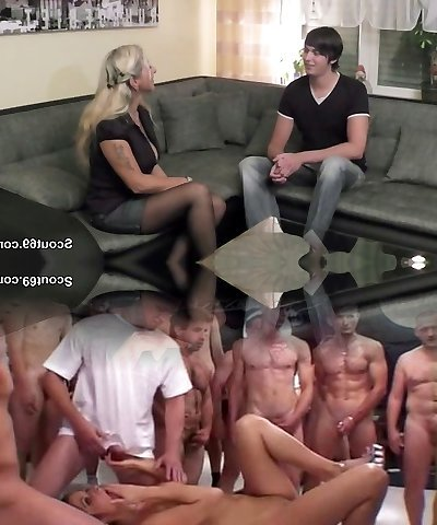 German Mom fucks youthful boy from neighbor when parent not home