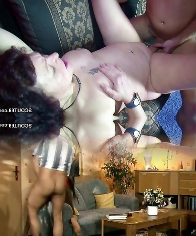 He Caught German Step-Mom Masturbate and Get His First-ever Screw