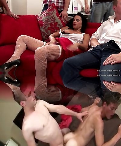 Hot elderly and young group sex with squirting mother