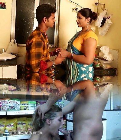 Hot Aunty Seduces Young Boy