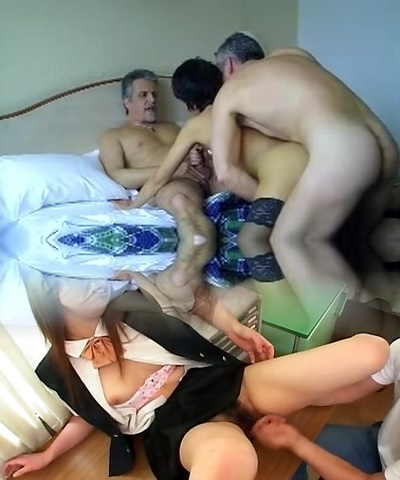 French mature loves trios with spouse and  homie